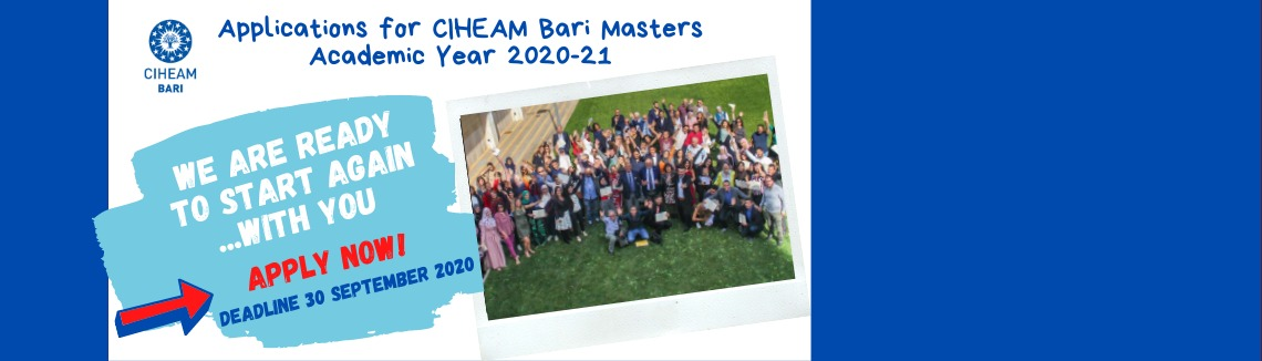 Applications for CIHEAM Bari masters - Academic Year 2020-21