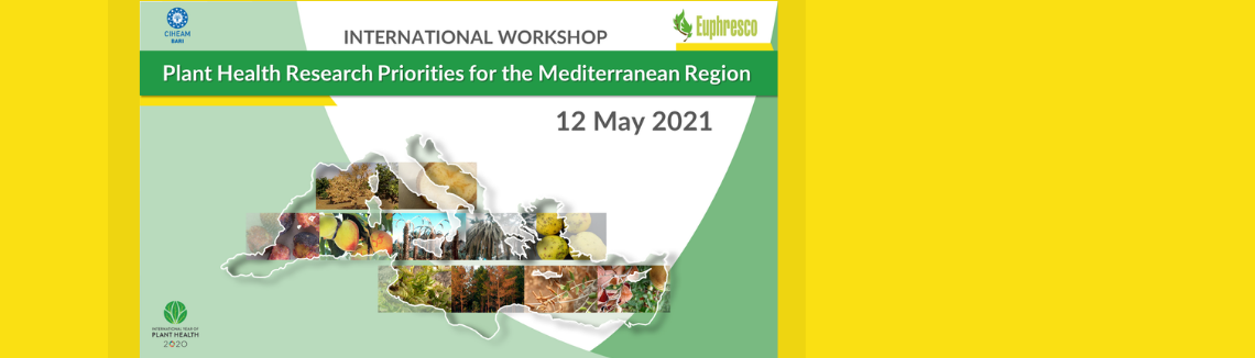 International workshop Plant Health Research Priorities for the Mediterranean Region | May 12th 2021